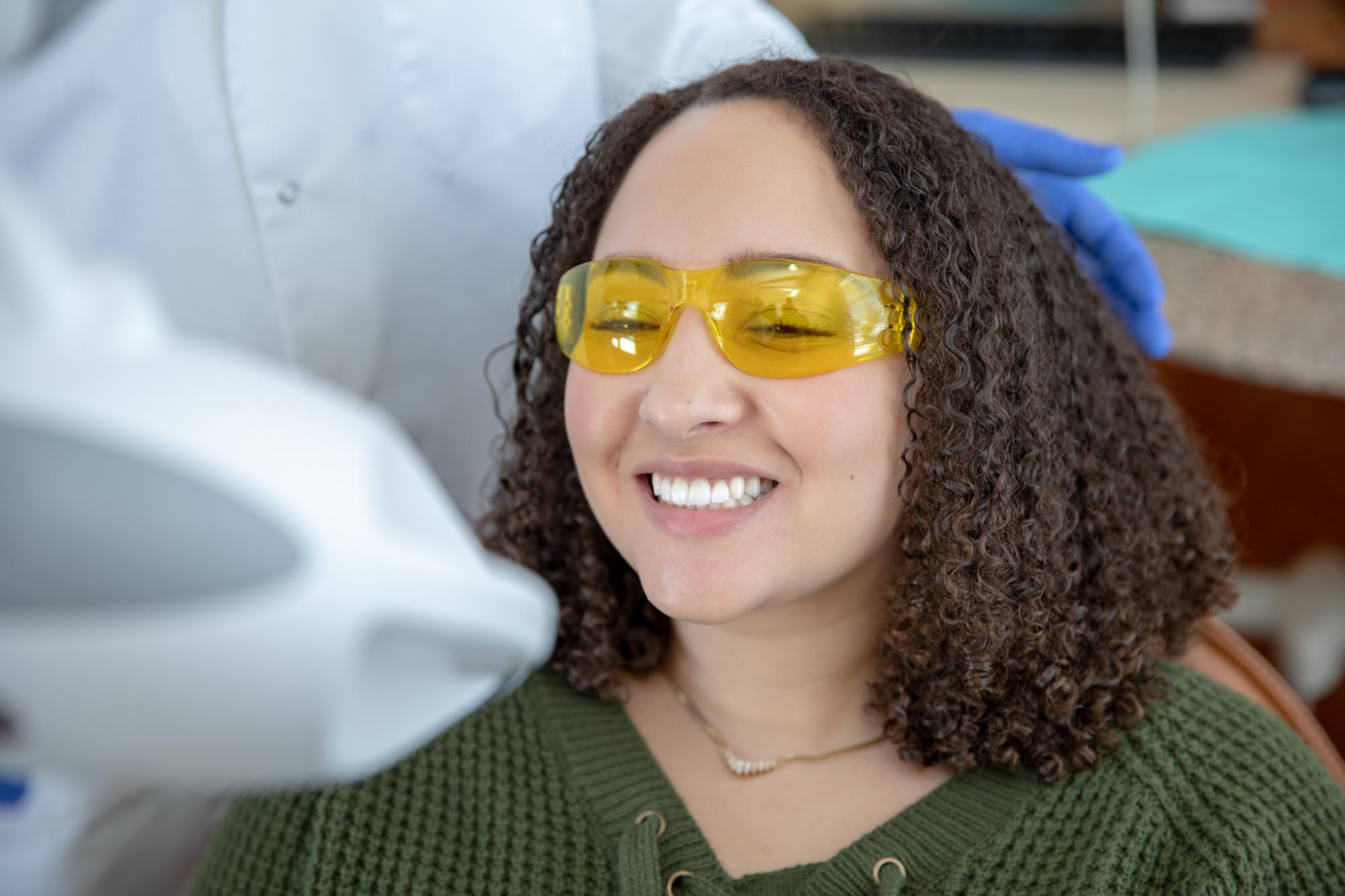 patient being examined using advanced dental technology Select Dental