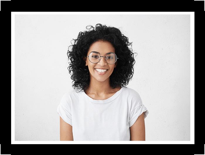 patient happy after gummy smile treatment Select Dental