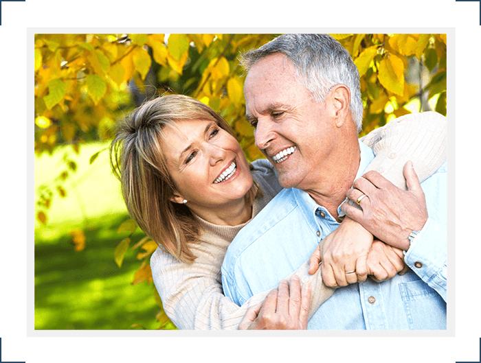 Couple happy with their dentures Select Dental