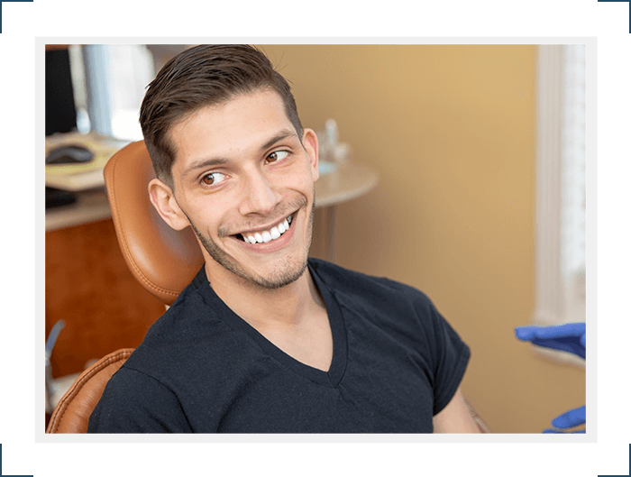 patient happy with his dental treatment Select Dental